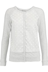 Clu Polka Dot Cotton Jersey Cardigan