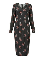 Boden Romaine Dress Black Meadowsweet