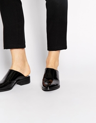 Asos Mali Leather Pointed Mules Black
