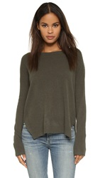 Velvet Cashmere Sweater Forest