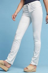 Anthropologie Ag Harper Mid Rise Straight Jeans White