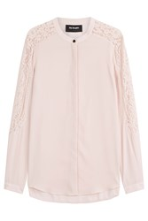 The Kooples Blouse With Lace Pink