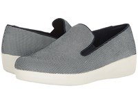 Fitflop Houndstooth Print Superskate Midnight Navy Women's Shoes Blue
