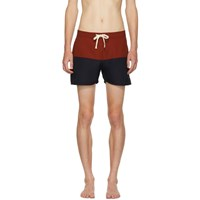 Saturdays Surf Nyc Red And Navy Ennis Board Shorts