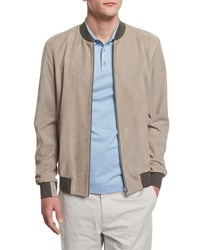 Theory Brant Suede Bomber Jacket Side Walk Women's
