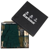 Barbour Scarf And Gloves Set Ancient