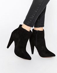 Truffle Collection Blaze Heeled Ankle Boots Black Micro