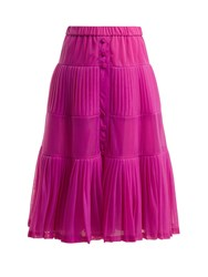 N 21 Elasticated Waist Pleated Organza Skirt Pink
