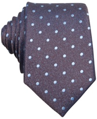 Bar Iii Carnaby Collection Hyde Dot Skinny Tie Brown