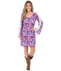 Rock And Roll Cowgirl Bell Sleeves Dress 18 6718 Fuchsia Women's Dress Pink