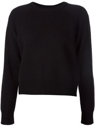 T By Alexander Wang Crew Neck Sweater Black