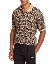 Ovadia And Sons Leopard Print Polo Shirt Multi