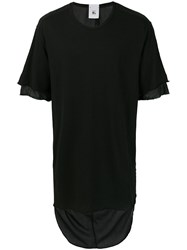 Lost And Found Rooms Double Sleeve T Shirt Cotton Linen Flax Black