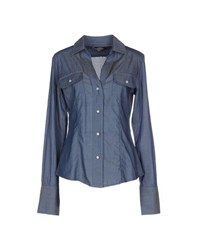 Freesoul Denim Denim Shirts Women Blue
