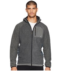 Quiksilver Waterman Bigger Boat Zip Hoodie Charcoal Heather Sweatshirt Gray