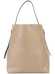 Valextra Buckled Clutch Bag Tote Nude Neutrals