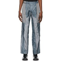 Off White Grey And Blue Technical Climbers Trousers