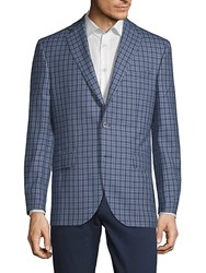 Jack Victor Conway Checkered Jacket Blue