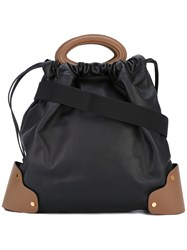 Marni Top Handle Tote Bag Women Calf Leather One Size Black