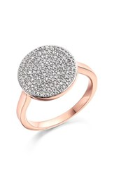 Monica Vinader Women's 'Ava' Diamond Disc Ring Rose Gold