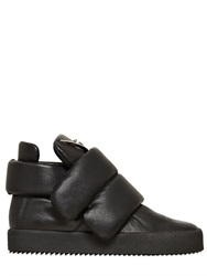 Giuseppe Zanotti 20Mm Padded Leather Mid Top Sneakers