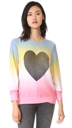 Wildfox Couture Perfect Heart Baggy Sweatshirt Multi