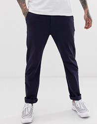 Levi's 502 Tapered True Chino Trousers In Nightwatch Blue Navy