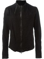 Lost And Found Zip Detail Leather Jacket Black