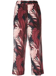 Moncler Cropped Floral Trousers Black
