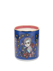 La Doublej Aphrodite Gilded Rim Scented Candle Pink Print