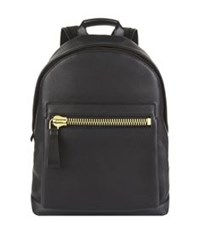 Tom Ford Leather Backpack Dark Grey