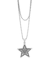Lagos Sterling Silver Rare Wonders Celestial Star Pendant Necklace 34