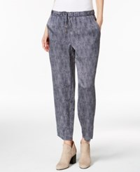 Eileen Fisher Silk Blend Drawstring Ankle Pants Midnight