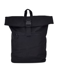 The Idle Man Roll Top Backpack Black