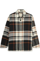 Madewell Bromley Checked Cotton Flannel Shirt Black