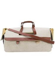 J.W.Anderson Jw Anderson Contrast Trim Holdall Nude And Neutrals