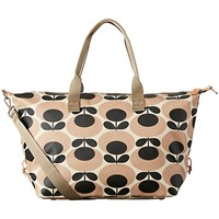 Orla Kiely Giant Oval Stem Zip Up Holdall Nude
