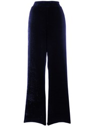 Roberto Collina Textured Palazzo Trousers Blue