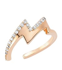 Bee Goddess Diamond Lightning Midi Ring Female