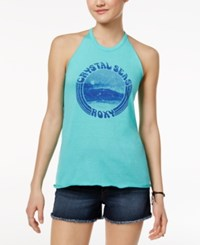 Roxy Juniors' Crystal Seas Graphic Tank Top Pool Blue