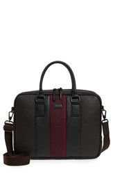 Ted Baker London Merman Faux Leather Briefcase Brown Chocolate