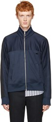 Ami Alexandre Mattiussi Navy Track Zip Up Pullover