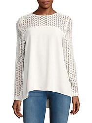 Kensie Smooth Stretch Crepe Top White