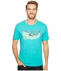 Life Is Good Patrol Beach Smooth Tee Bright Teal Men's T Shirt Blue