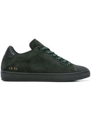 Leather Crown Lace Up Sneakers Green