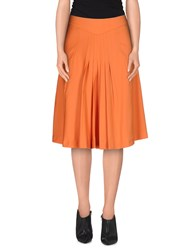 Bgn Skirts Knee Length Skirts Women Orange