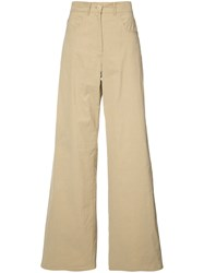 Sea Loose Fit Flared Trousers Nude Neutrals