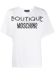 Boutique Moschino Cartoon Logo Print T Shirt 60