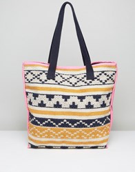 Pieces Tapestry Beach Tote Bag Multi