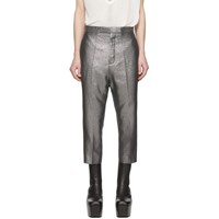 Rick Owens Silver Astaires Cropped Trousers